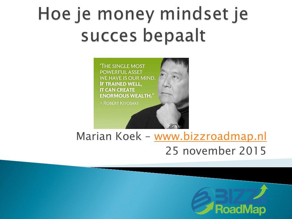 Marian Koek – www.bizzroadmap.nlwww.bizzroadmap.nl 25 november 2015