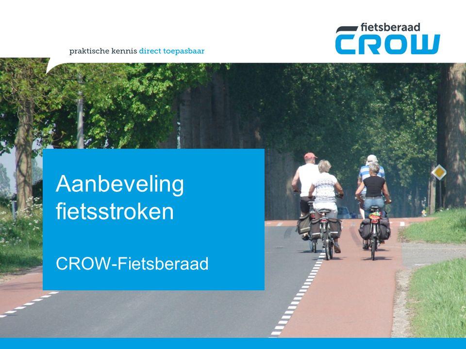 Aanbeveling fietsstroken CROW-Fietsberaad