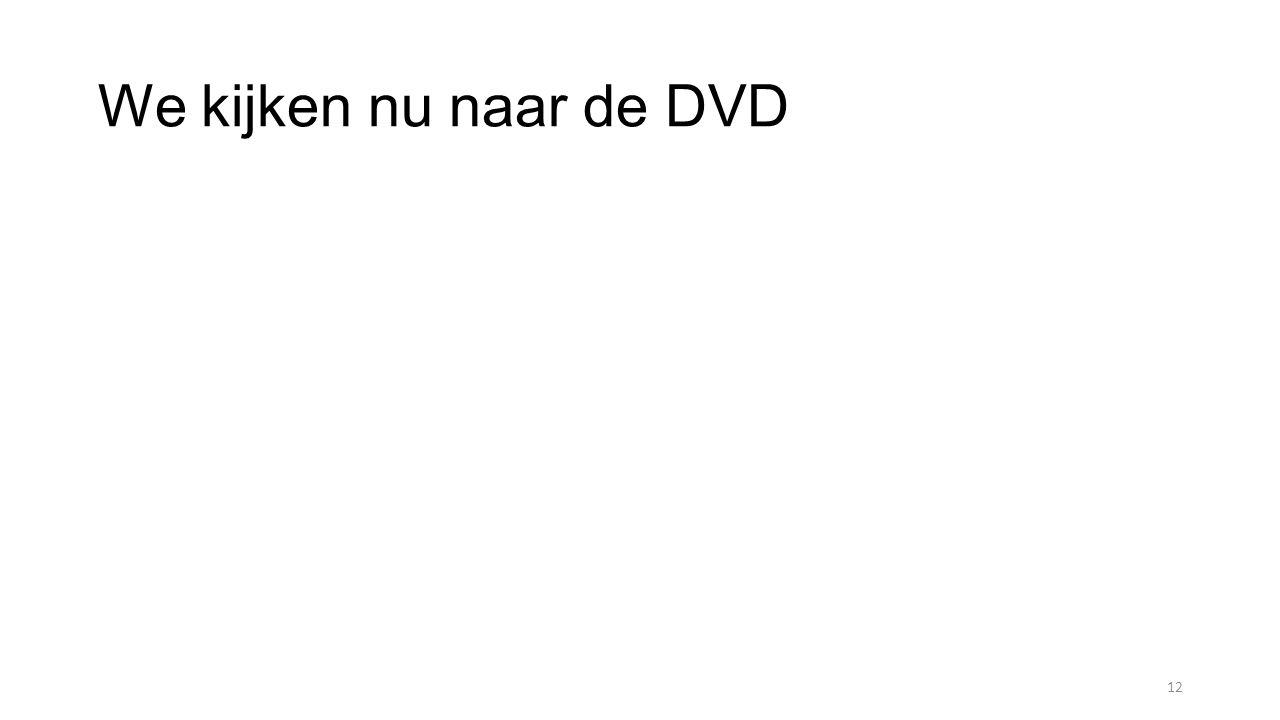 We kijken nu naar de DVD 12
