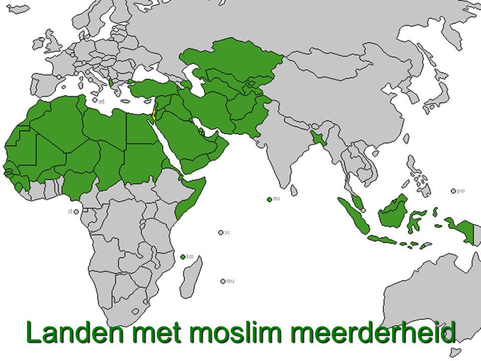 Landen met moslim meerderheid