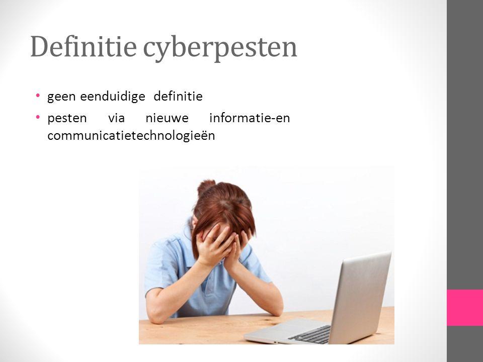 Definitie cyberpesten geen eenduidige definitie pesten via nieuwe informatie-en communicatietechnologieën