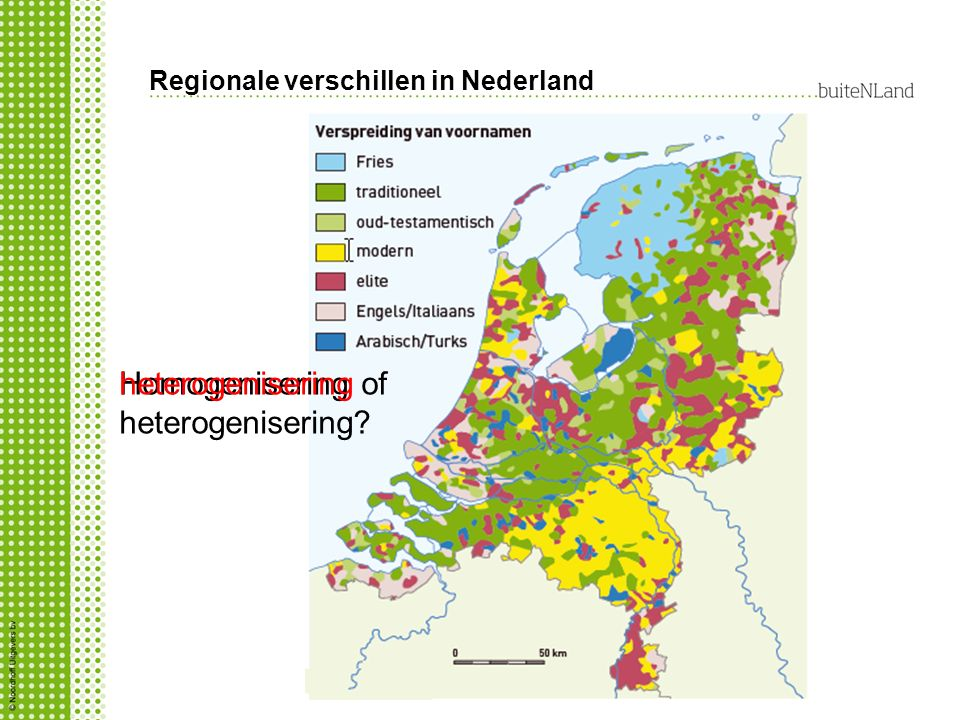 Regionale verschillen in Nederland Homogenisering of heterogenisering? heterogenisering