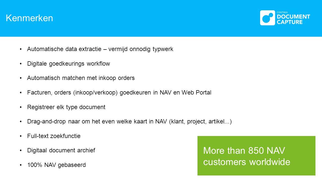 Ontvangst Documenten Network Scanner Scanner op Lokaal station Papieren Documenten Automatische Download E-mails OCR Server Dynamics NAV