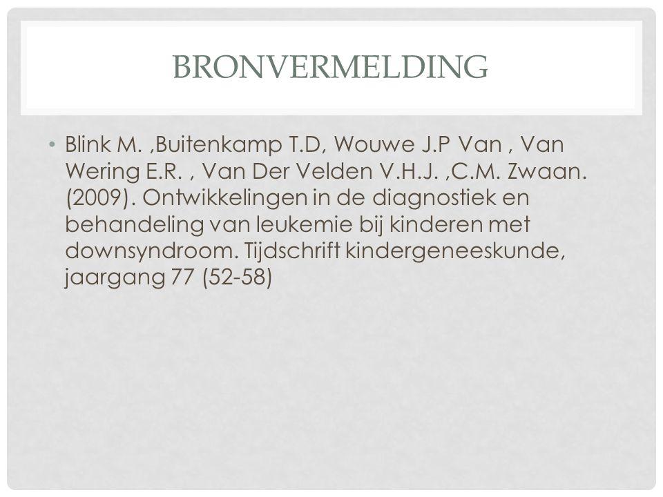 BRONVERMELDING Blink M.,Buitenkamp T.D, Wouwe J.P Van, Van Wering E.R., Van Der Velden V.H.J.,C.M.