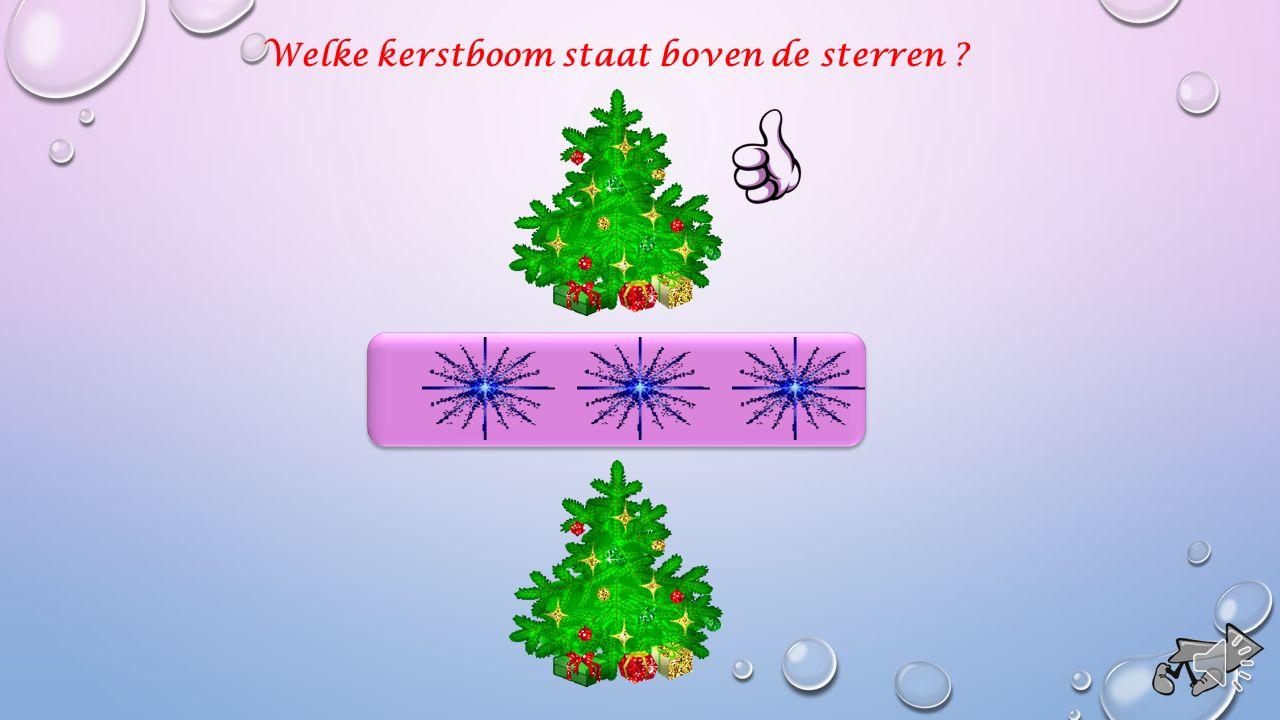 Welke kerstboom staat boven de sterren ?