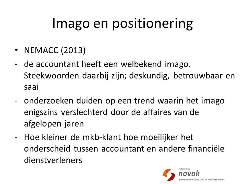 Imago en positionering NEMACC (2013) -de accountant heeft een welbekend imago.