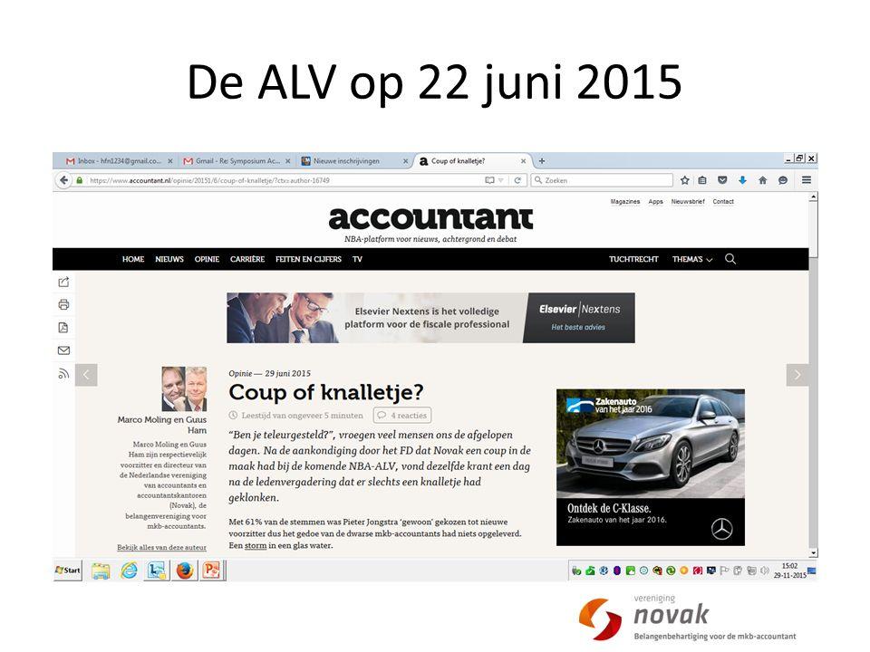 De ALV op 22 juni 2015