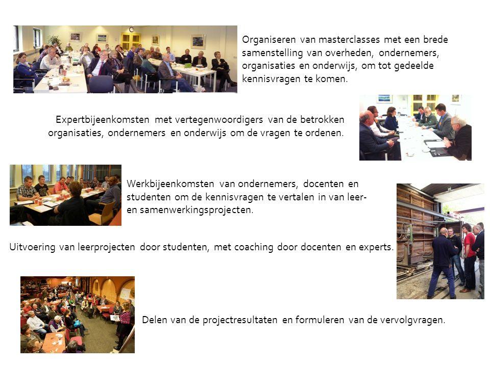 16 Organiseren van masterclasses met een brede samenstelling van overheden, ondernemers, organisaties en onderwijs, om tot gedeelde kennisvragen te komen.