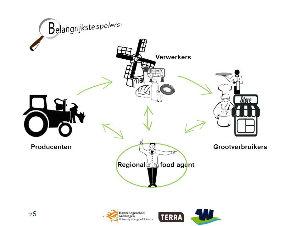 food agent ProducentenGrootverbruikers Verwerkers Regional 26