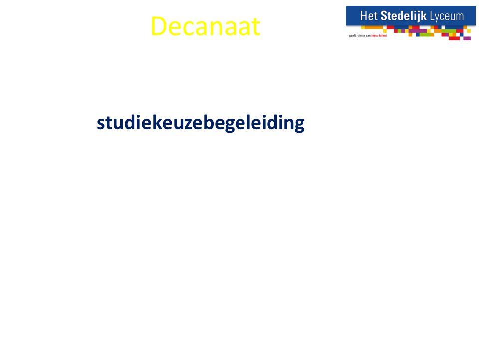 Even voorstellen Decanaat studiekeuzebegeleiding