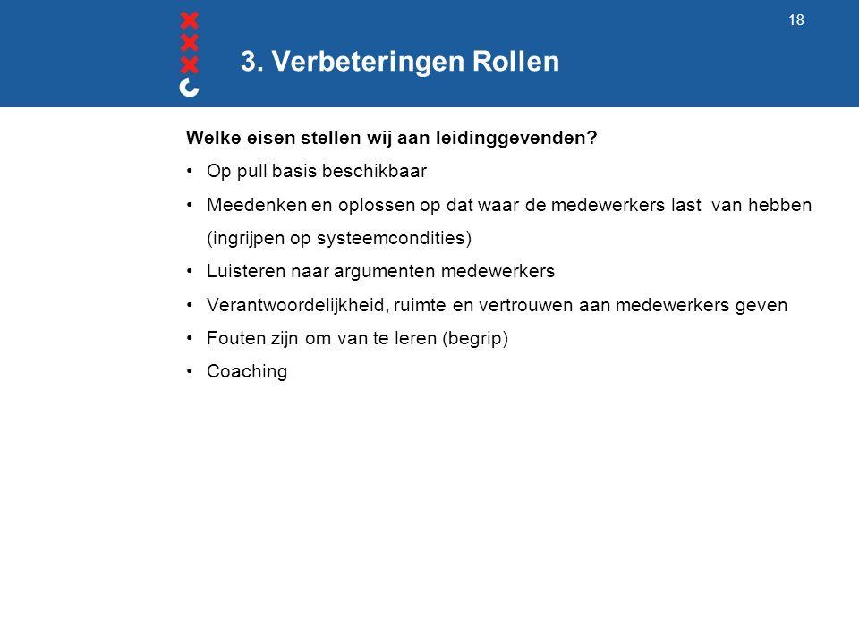 3. Verbeteringen Rollen Welke eisen stellen wij aan leidinggevenden.