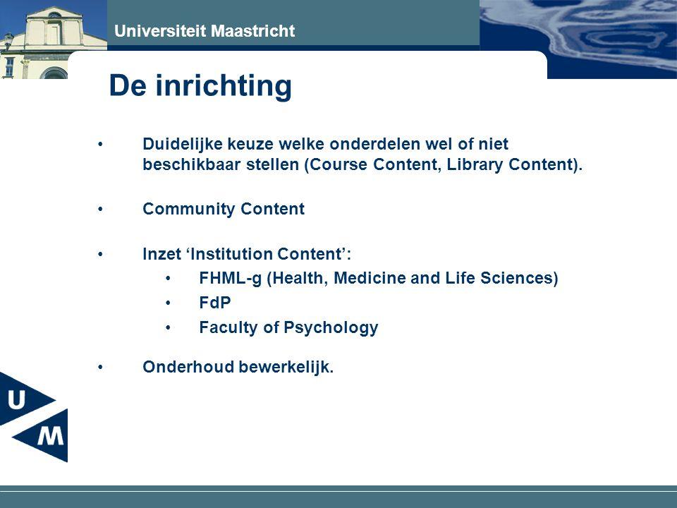Universiteit Maastricht Techniek Eigen gebouwde tool t.b.v.