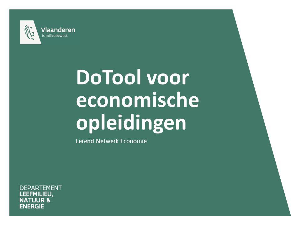 DoTool voor economische opleidingen Lerend Netwerk Economie
