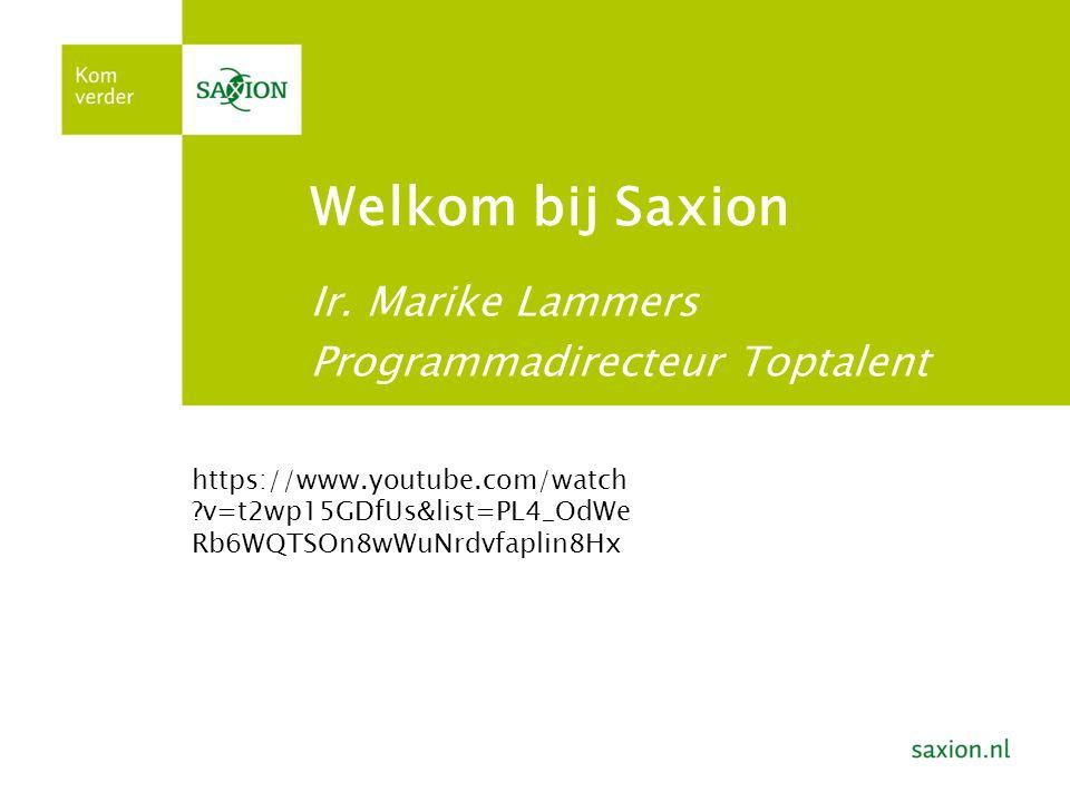 Welkom bij Saxion Ir.