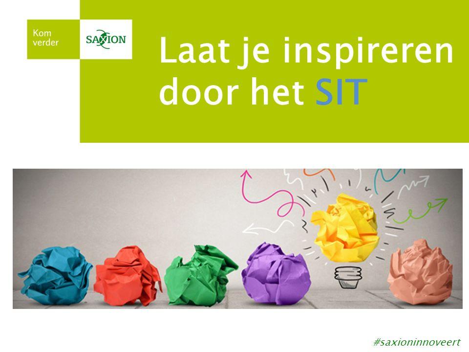 Laat je inspireren door het SIT #saxioninnoveert
