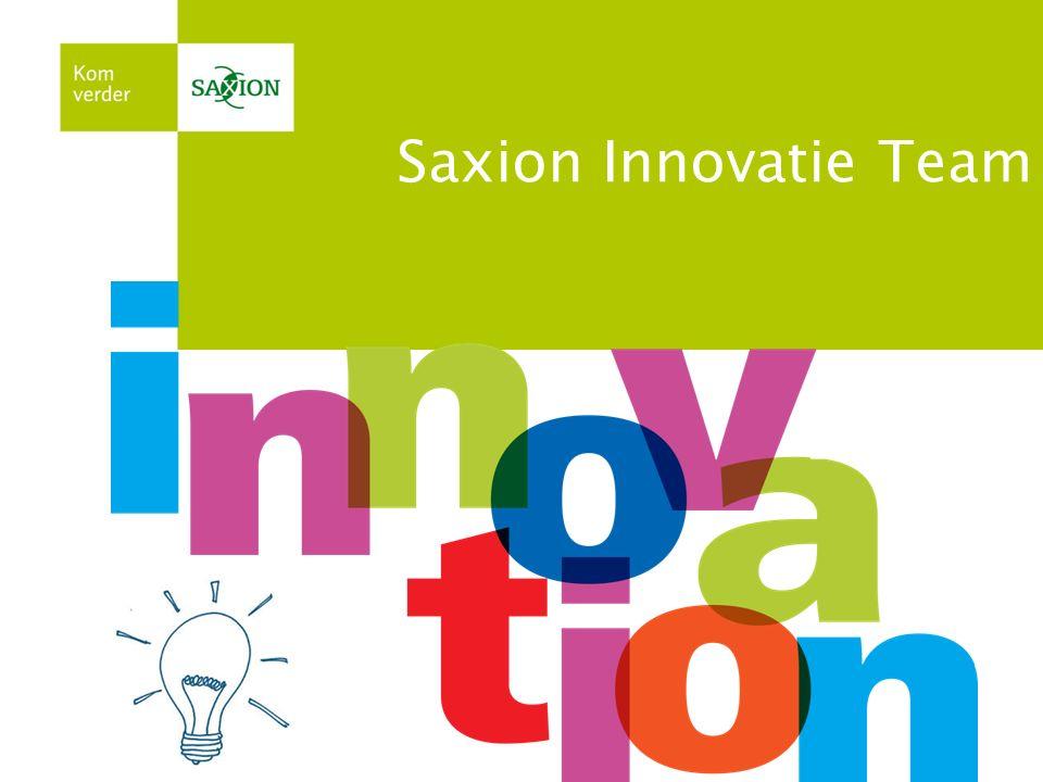 Twitteren? Gebruik #saxioninnoveert Saxion Innovatie Team