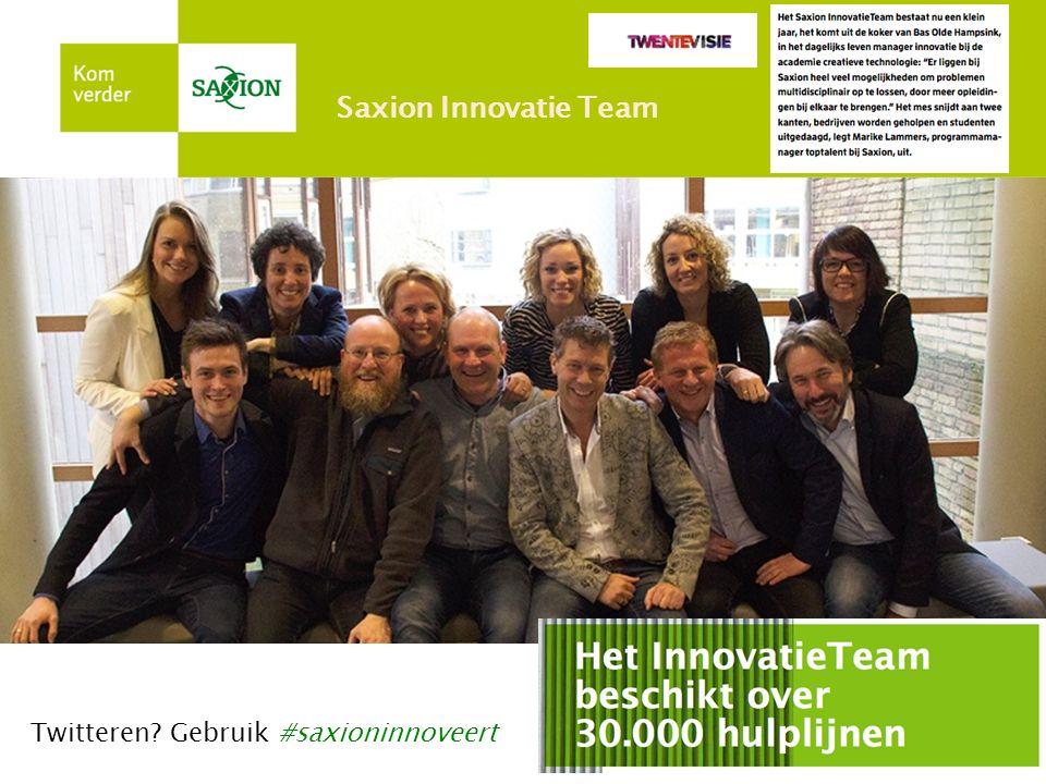 Twitteren Gebruik #saxioninnoveert Saxion Innovatie Team