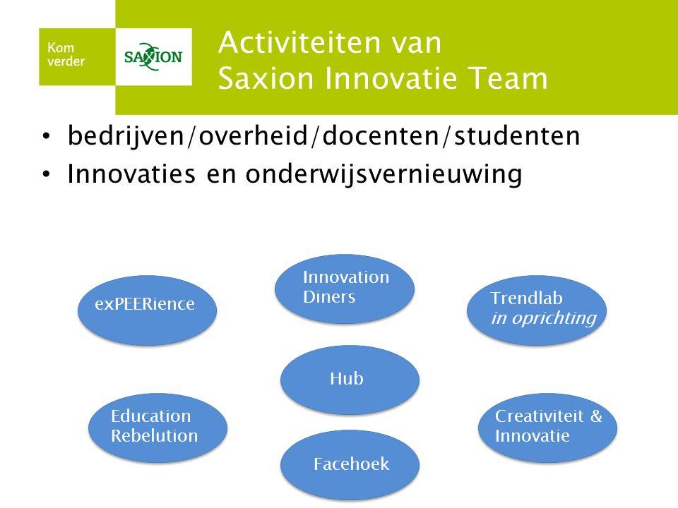 Pilot exPEERience Doen: interdisciplinair samenwerken Groep studenten van allerlei opleidingen/disciplines koppelen aan: Project VriezenFijn
