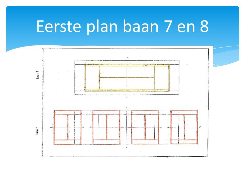 Eerste plan baan 7 en 8