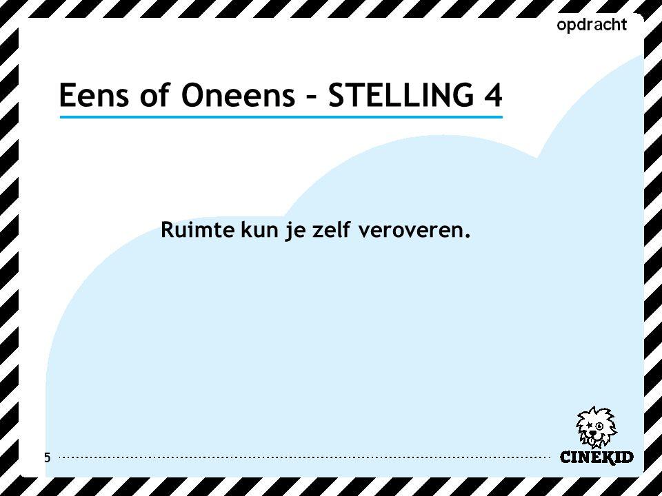 Eens of Oneens – STELLING 5 6 Op Facebook mag je dingen zetten over een ander.