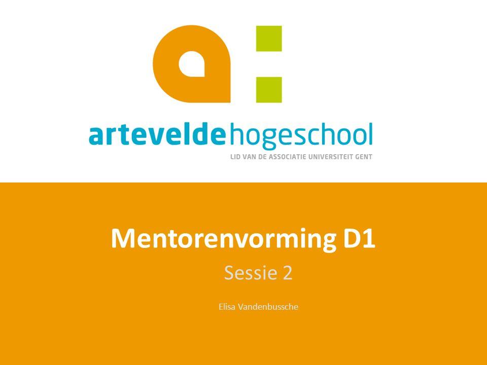 Sessie 2 Elisa Vandenbussche Mentorenvorming D1
