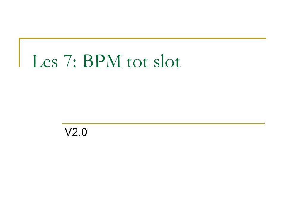 Les 7: BPM tot slot V2.0