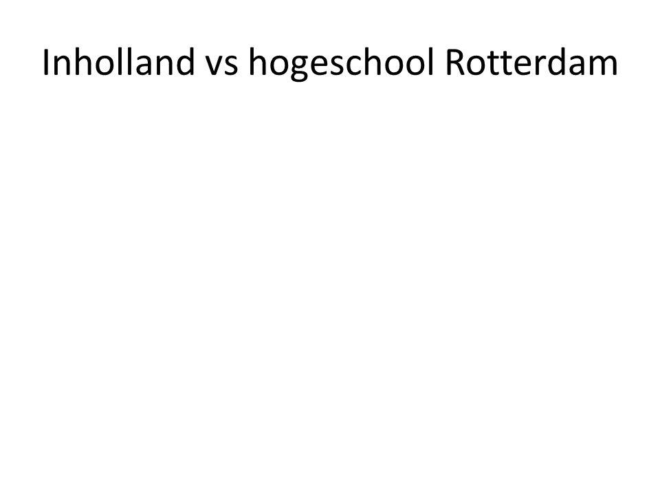 Inholland vs hogeschool Rotterdam
