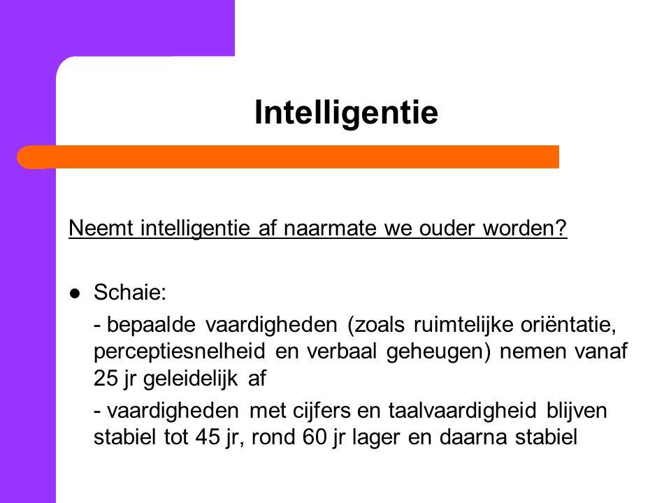 Vraag Als bepaalde cognitieve vaardigheden tijdens de middelbare leeftijd blijkbaar afnemen, waarom bekleden mensen dan in deze periode vaak de belangrijkste posities???