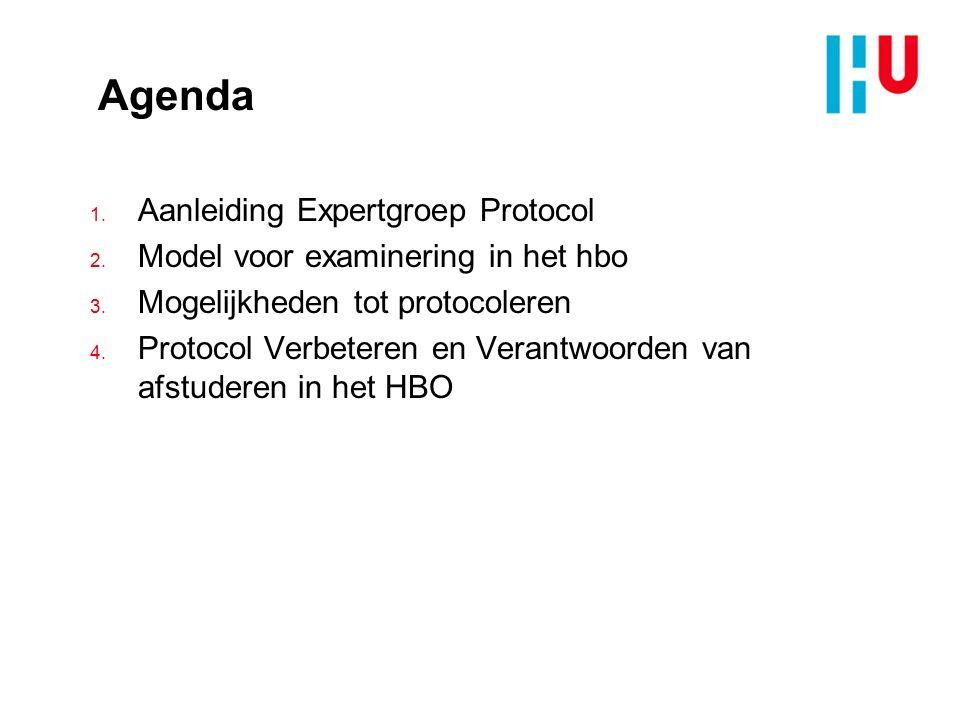 Agenda 1. Aanleiding Expertgroep Protocol 2. Model voor examinering in het hbo 3. Mogelijkheden tot protocoleren 4. Protocol Verbeteren en Verantwoord