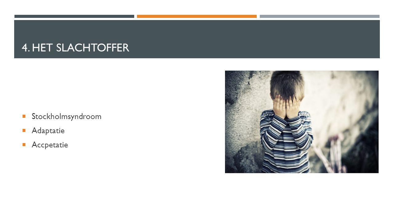 4. HET SLACHTOFFER  Stockholmsyndroom  Adaptatie  Accpetatie