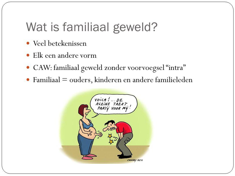 Wat is familiaal geweld.