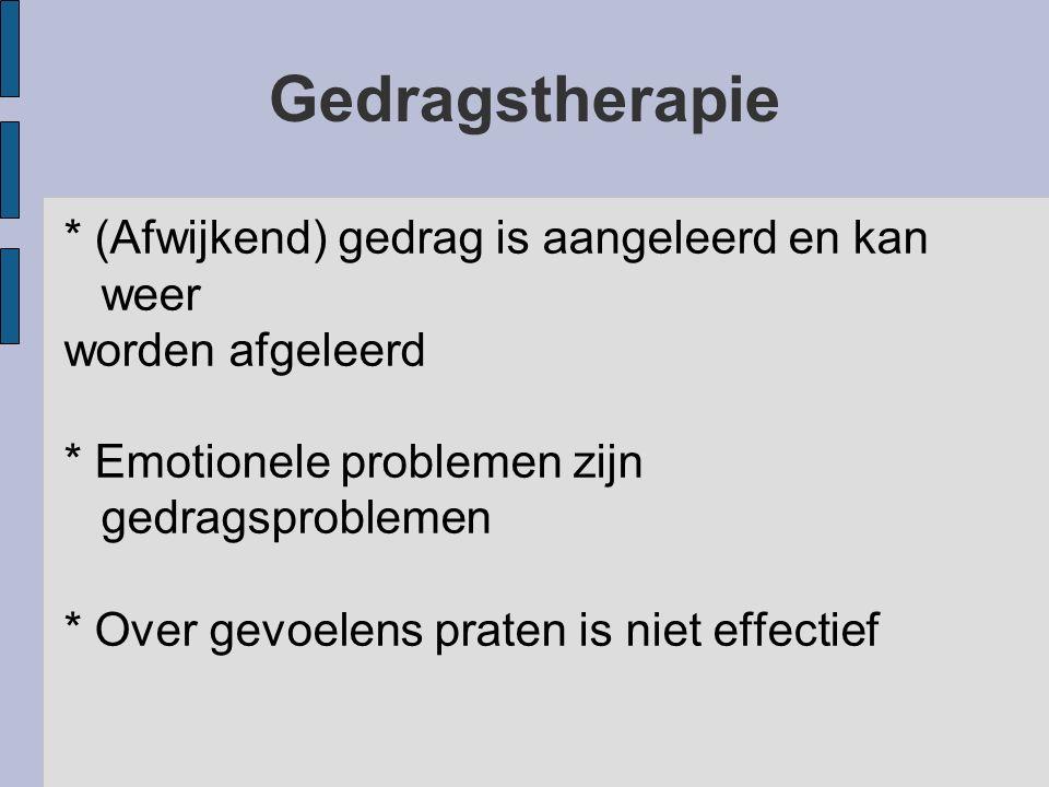 Klassieke conditionering: therapeutische toepassingen Leren CS (moeilijke situatie) uit de weg te gaan in b.v.