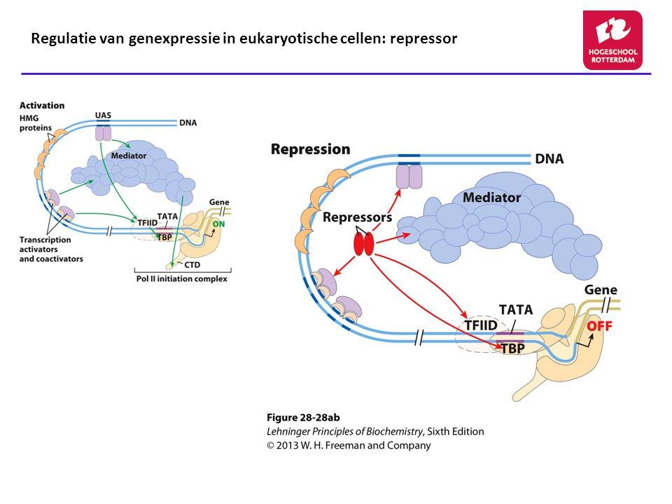 Regulatie van genexpressie in eukaryotische cellen: repressor