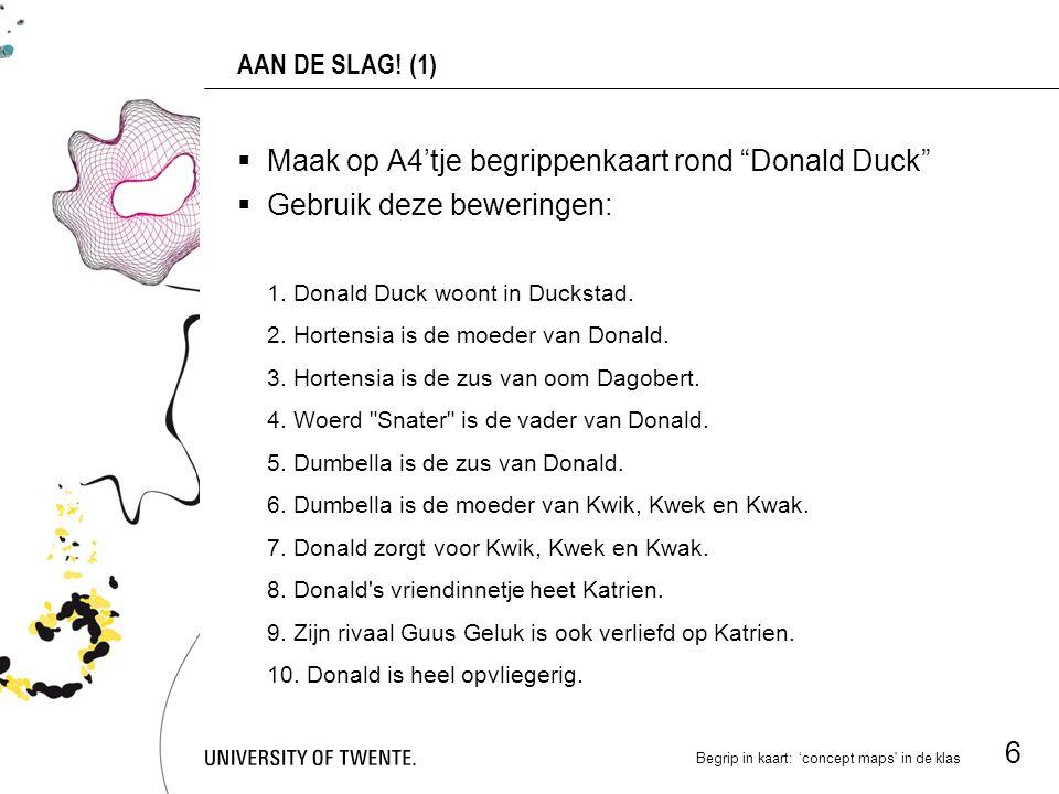 Begrip in kaart: 'concept maps in de klas 6 AAN DE SLAG.