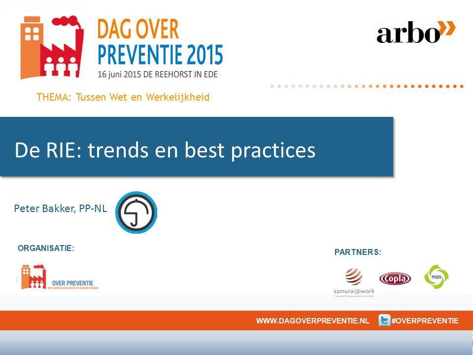 ORGANISATIE: PARTNERS: WWW.DAGOVERPREVENTIE.NL #OVERPREVENTIE THEMA: Tussen Wet en Werkelijkheid De RIE: trends en best practices Peter Bakker, PP-NL