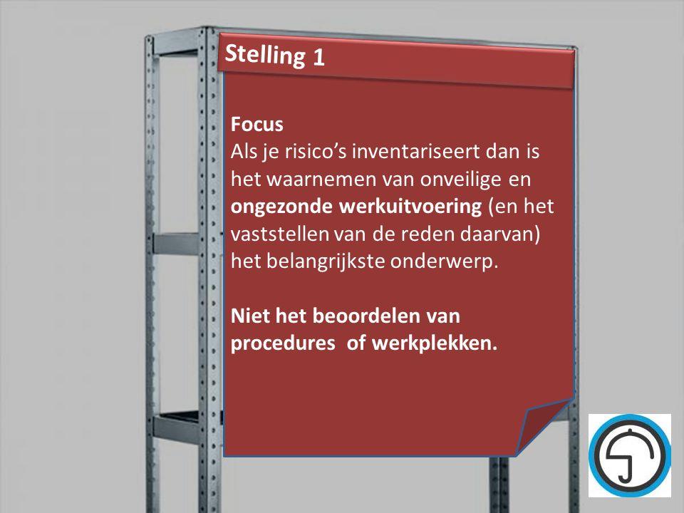 nvvk Gerard de Groot22 Focus Als je risico's inventariseert dan is het waarnemen van onveilige en ongezonde werkuitvoering (en het vaststellen van de
