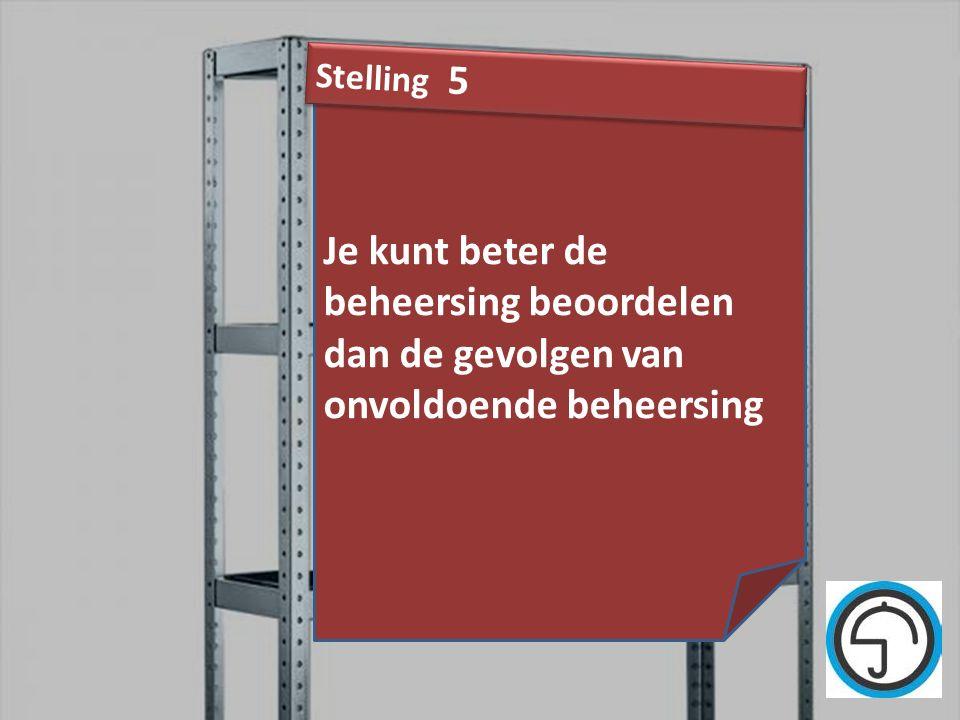nvvk Gerard de Groot37 Je kunt beter de beheersing beoordelen dan de gevolgen van onvoldoende beheersing Stelling 5