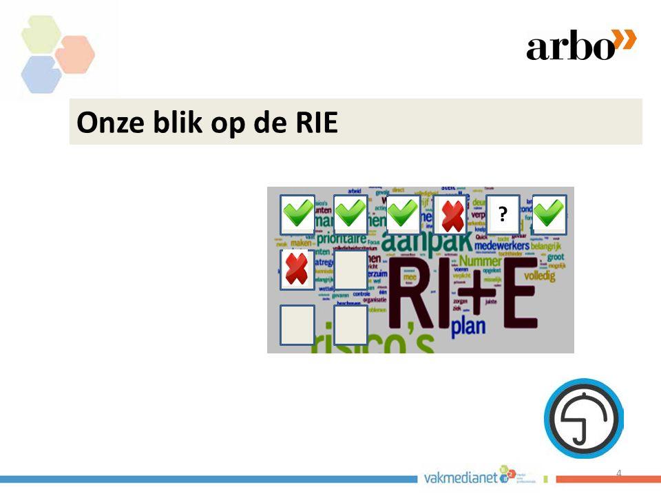 De RIE inzetten als middel: 1.Met management en OR vooraf te bepalen wat de verander mogelijkheden zijn.