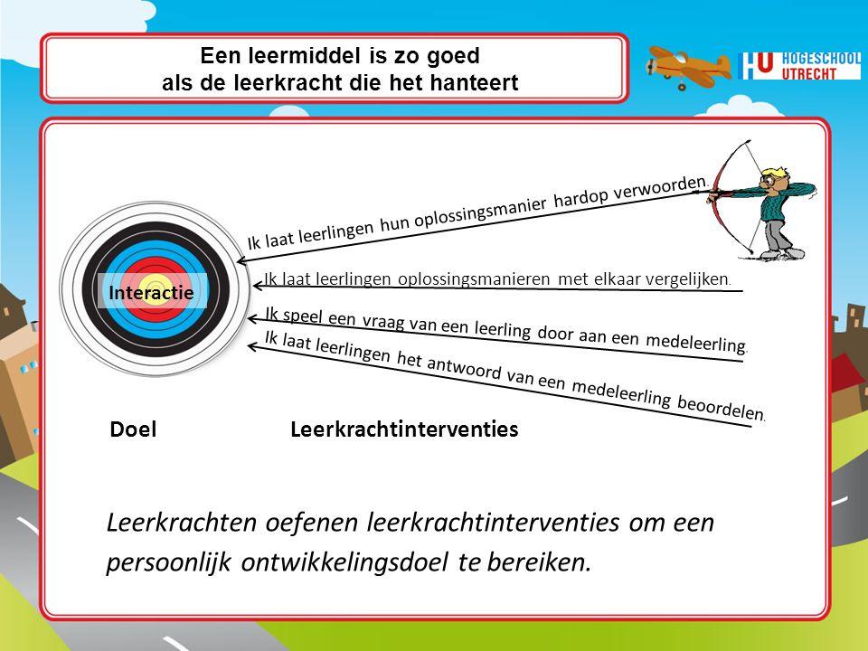 Individueel of samen met een collega: Bekijk de lijst met persoonlijke ontwikkelingsdoelen en de lijst met leerkrachtinterventies : (p.