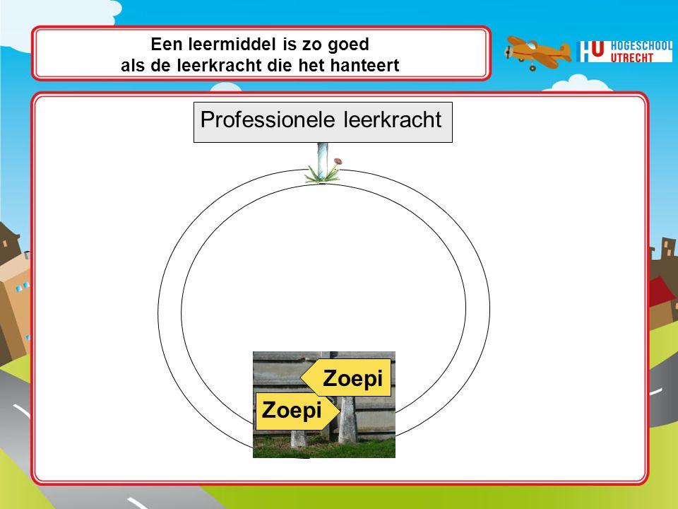 Een leermiddel is zo goed als de leerkracht die het hanteert Wissant Zoepi Soep Zoepi Professionele leerkracht