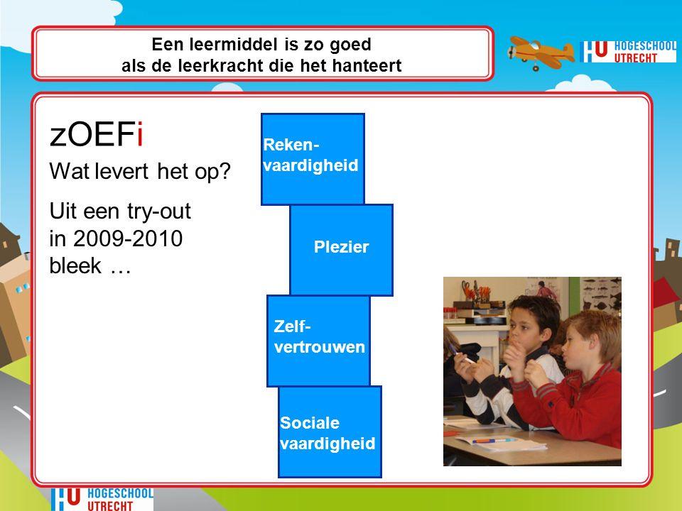 zOEFi Reken- vaardigheid Plezier Zelf- vertrouwen Sociale vaardigheid Wat levert het op.