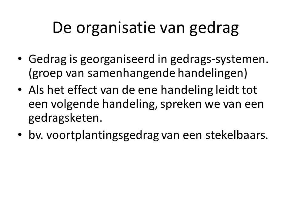 Gedrag is georganiseerd in gedrags-systemen.