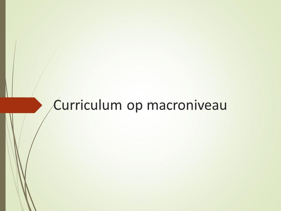 Curriculum op macroniveau