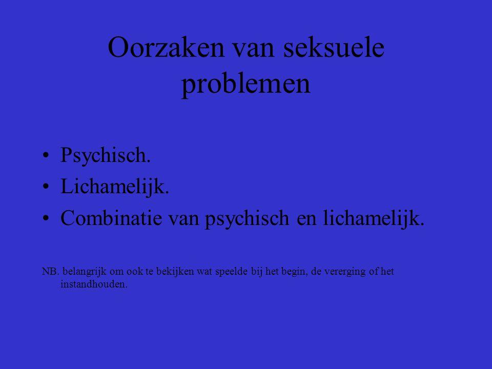 Oorzaken van seksuele problemen Psychisch.Lichamelijk.