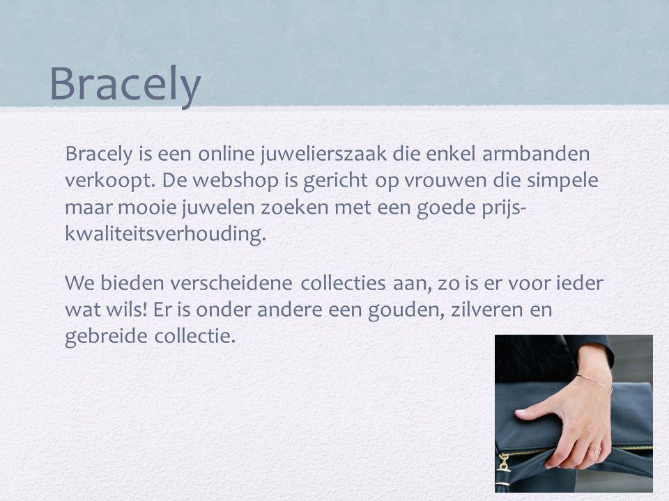 Bracely Bracely is een online juwelierszaak die enkel armbanden verkoopt. De webshop is gericht op vrouwen die simpele maar mooie juwelen zoeken met e