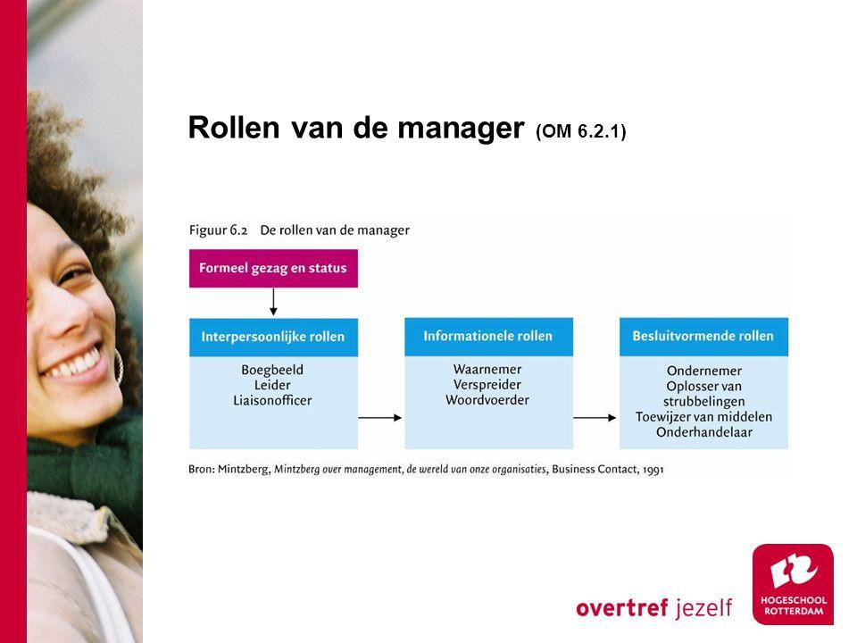 Rollen van de manager (OM 6.2.1)