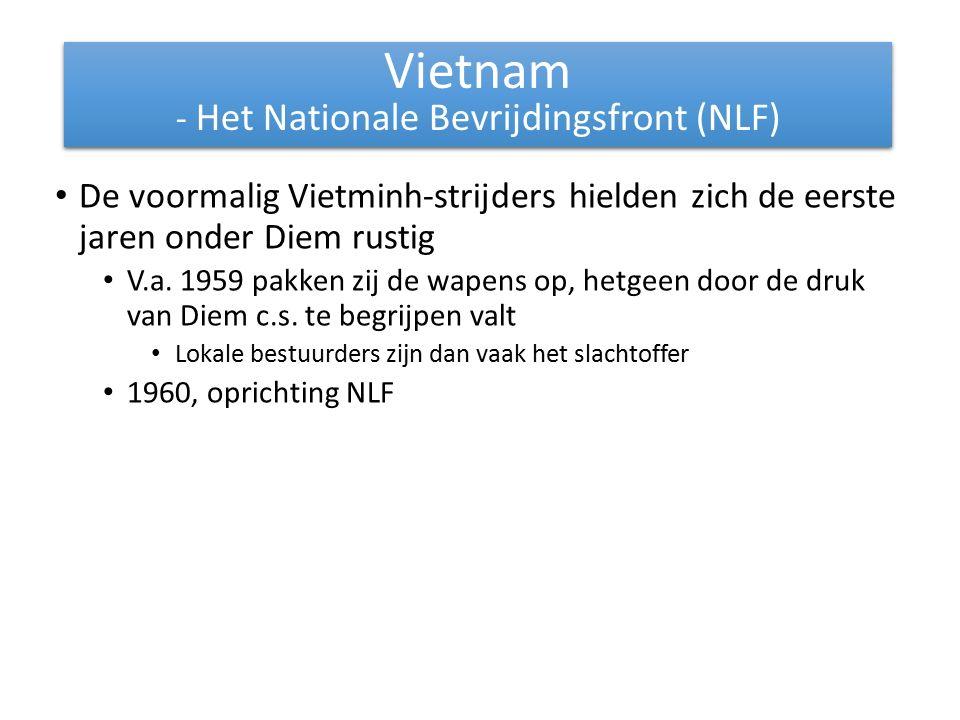 De voormalig Vietminh-strijders hielden zich de eerste jaren onder Diem rustig V.a.