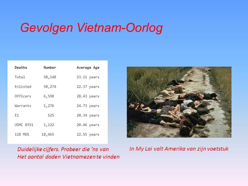 Gevolgen Vietnam-Oorlog In My Lai valt Amerika van zijn voetstuk Duidelijke cijfers.