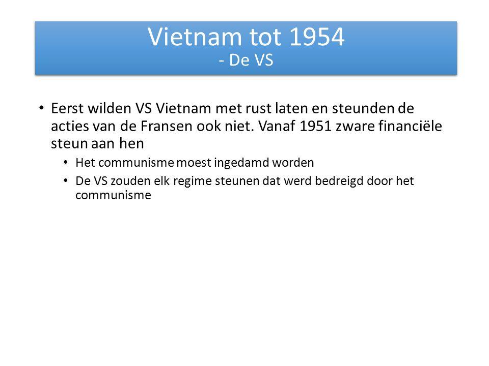 Eerst wilden VS Vietnam met rust laten en steunden de acties van de Fransen ook niet.