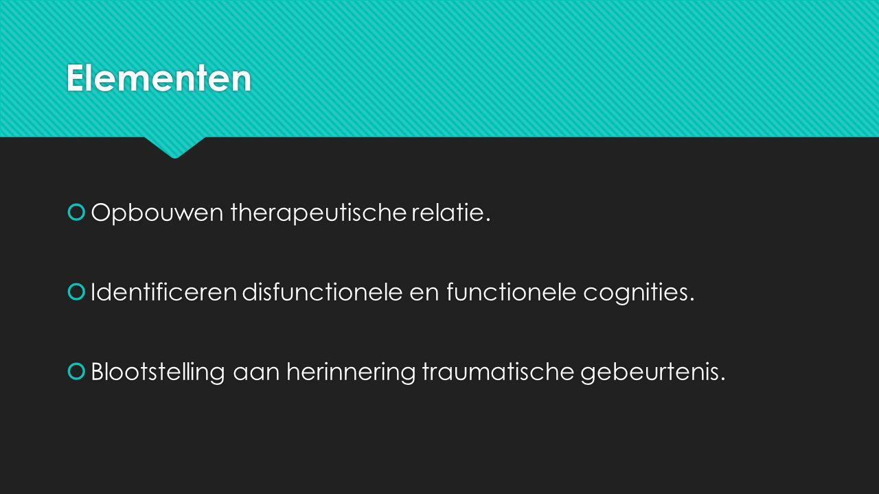 Elementen  Opbouwen therapeutische relatie.